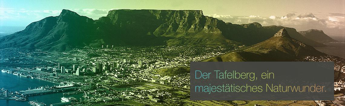 Der Table Mountain, ein majestaetisches Naturwunder